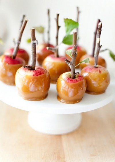 Caramel Apples with twig